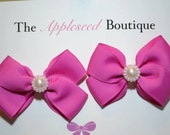 2 inch PigTail Bow Set