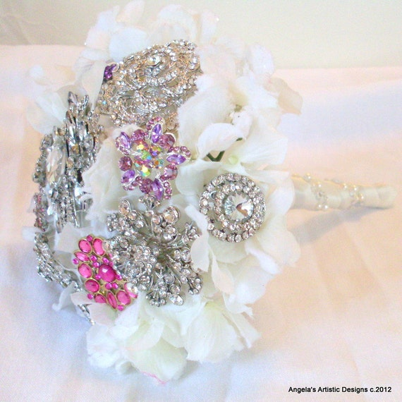Wedding Brooch Bouquet, Petite, Winter wedding, bridal