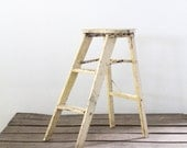Antique Step Stool / Painted Step Ladder - 86home