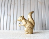 Large Brass Squirrel // Solid Brass - genrestoration