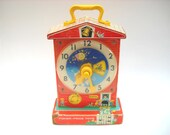 Vintage Fisher Price Teaching Clock 998 Works - ManateesToyBox