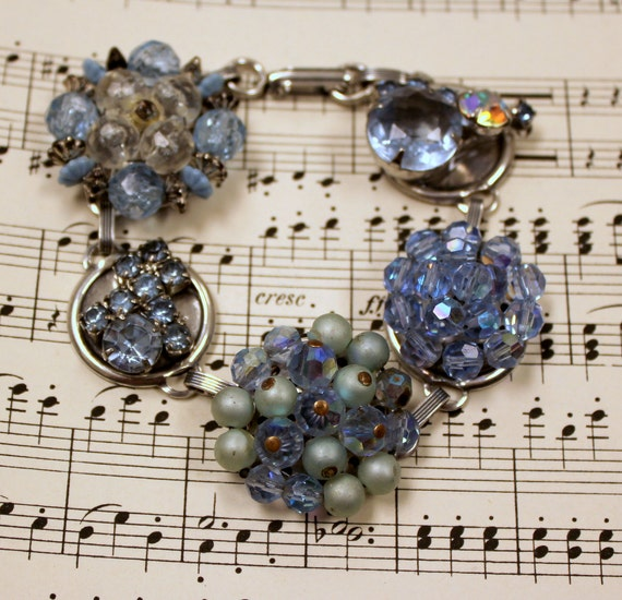 Vintage Wedding Bracelet in Blues