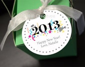 2013 Happy New Year Tag - Personalized DIY Printable Digital File - NHACreatives