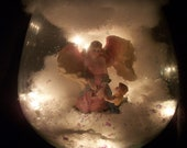 Lighted 3D Angel in Crystal Bowl (One of a Kind) 2o% off limited time only