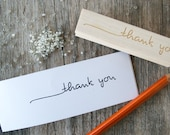 "Thank you stamp, Handwritten - .5 x 3"" - PerrodinSupplyCo"