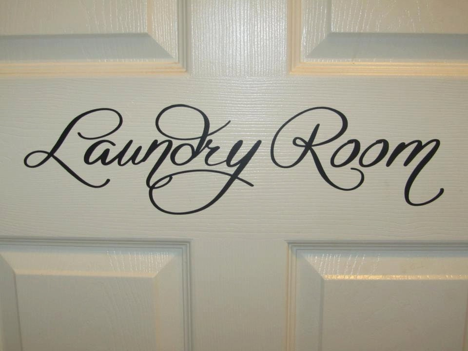 Laundry Room door sign by lilCUTEThings on Etsy