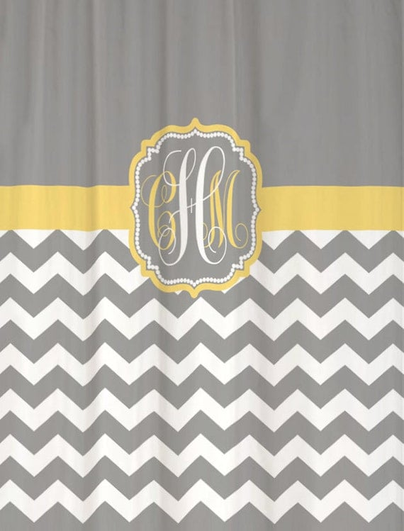 French Country Toile Curtains Gray and White Chevron Show