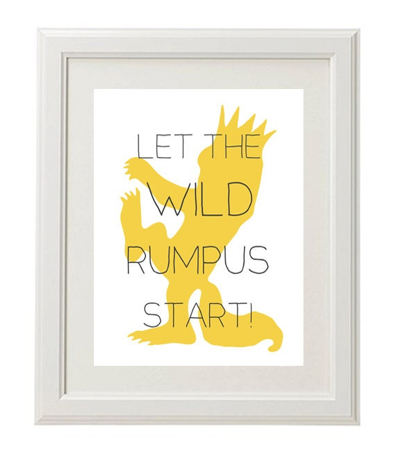 Where the Wild Things Are Nursery Print