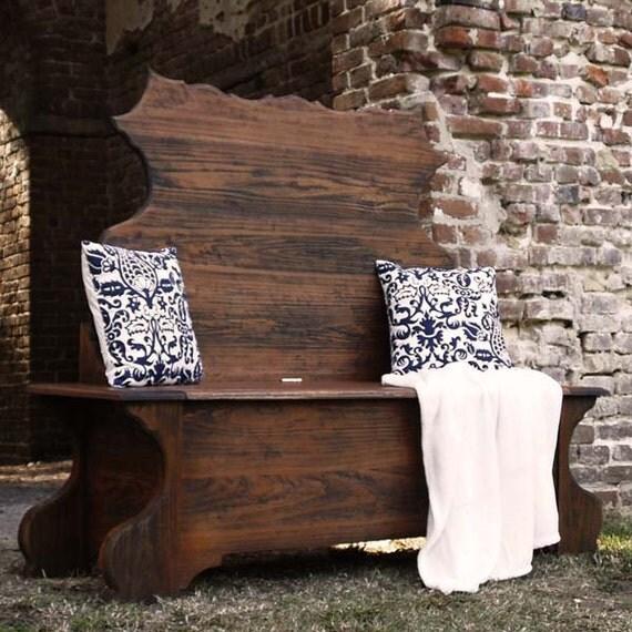 Rough Sawn Hardwood Bench, wood bench, wooden bench, entryway bench, bench with back, entry bench, hardwood bench, storage bench