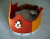 SALE Wool Felt Crown - Autumn and Squirrely