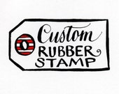 Custom Rubber Stamp Order reserved for Meredith, Calligraphy Stamps hand lettered by KisforCalligraphy - KisforCalligraphy