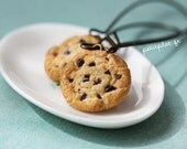 Cookie Earrings on Brass - Chocolate Chip Cookies - Cookie Collection - PetitPlat