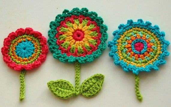 Crochet Flower Motifs by Annie Design