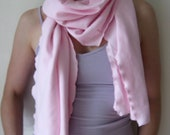 jersey knit organic cotton pink scarf for women free shipping - betsybdesign