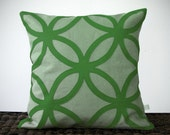 Geometric Kelly Green PILLOW COVER Mod Holiday Home Decor by JillianReneDecor Modern Christmas Luxury Gift for Her Emerald Green - JillianReneDecor