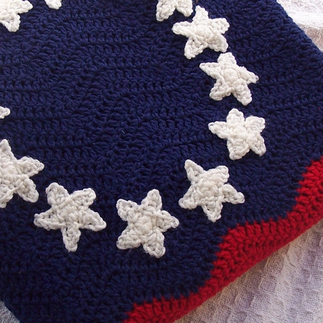 American Colonial Flag Ripple Afghan {the Prairie Cottage}
