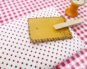 White with Little Red Polka Dot Fabric in Fat Quarter (Zakka)