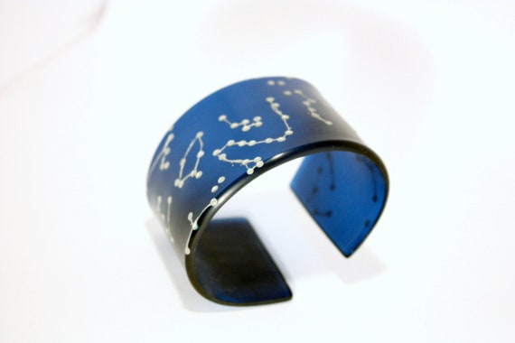 Galaxy cuff - northern hemisphere plexiglass bracelet by Helena Ribeiro