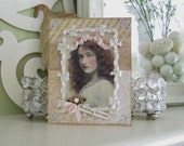 Handmade Wedding Card - Vintage Style Card for Wedding - Victorian Wedding Card
