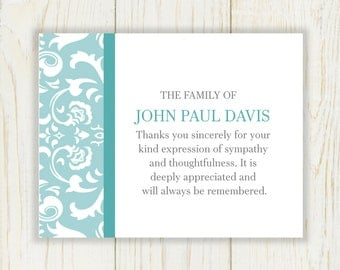 How to write thank you notes for a death
