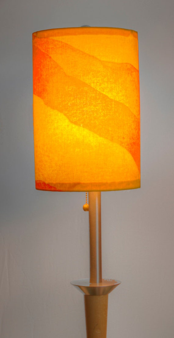 Marimekko Joiku Yoik Lamp Shade Yellow Orange by FinnFabDesigns