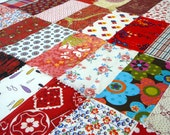 Vintage Cotton Fabric Lot Samples Swatches Pieces Quilt Blocks Red - EvelynnsAlcove