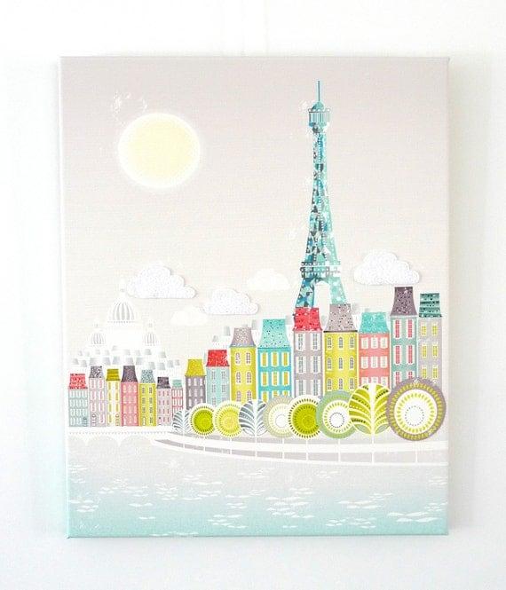 Paris, Eiffel Tower - Canvas, Textiles, Print