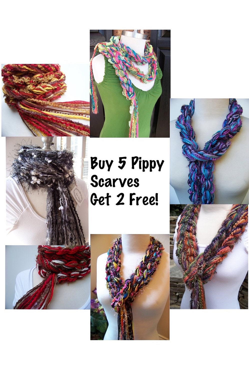 Scarves Crochet Scarf Knit Scarves Buy 5 Get 2 Free Scarf Sale Crochet Scarf For Sale