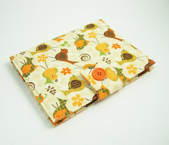 "LAST ONE - Sale- Kindle Fire Case ""Retro Quail"" (Kindle, Nook, Sony, Kobo, Pandigital, Velocity)"