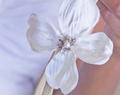 Snow Magnolia Flower Headband