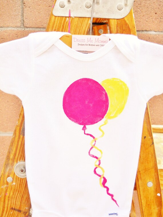 Kids Children Balloons Party Birthday Toddler T-Shirt or Baby Onesie