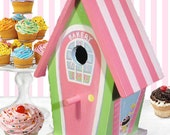 Hand Painted Bakery Birdhouse