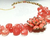 Cherry Quartz Treat Necklace by 2CarasCreations