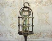 Industrial Machine Age Steampunk Caged Key Sculpture - RustySpoke