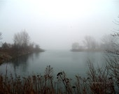 Scenery, photograph, Misty Magic, fog mist, Toronto, Canada, Bluffers Park, office home decor, gift giving - Skybird111FineArt