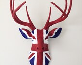 UNION JACK Deer Head Wall Mount - BananaTreeStudios