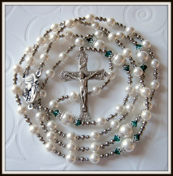 Catholic Rosary for Girls, Baptism Rosary, Custom Birthstone Rosary Made to Order
