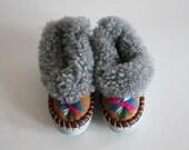 Toddler Vintage Fur Slippers - boxofhollyhocks
