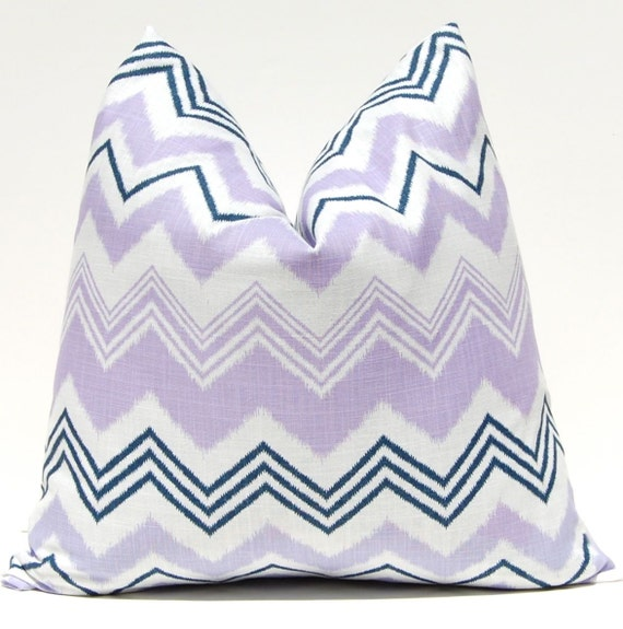 Chevron Pillow Decorative Throw Pillow Covers Accent Pillows Cushion Covers 20 x 20 Inches Purple Chevron Zazzle