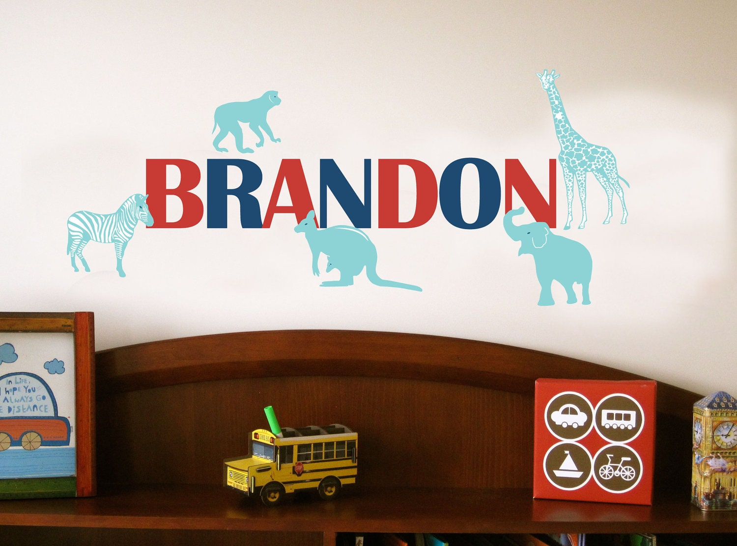 Kids Wall Decor Zoo Animals | Decorator Showcase : Home