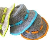 Boy's Sun Hat Crochet Pattern , Pdf pattern, Boy's Sun Hat, Newborn to 10 Years, Pdf Pattern - CrochetBabyBoutique