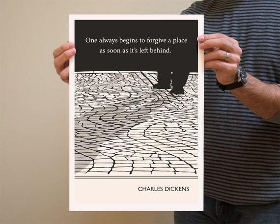 Original Illustration, Charles Dickens quotation
