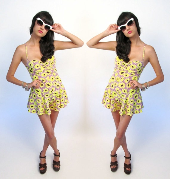 super 90's sunflower romper