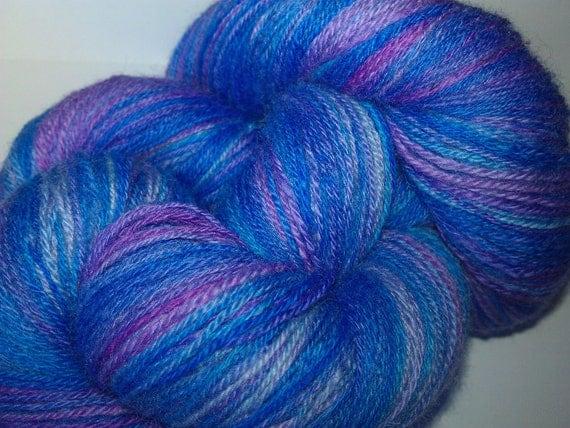 Handspun BFL Yarn - Lost in Lavender - 540m/590y