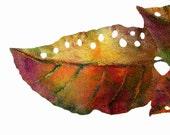 Nuno Felted scarf Wool silk Fall colour Orange Green Purple Gold Autumn leaf ooak felt scarf - lannarfelt