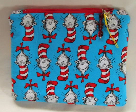 Cat In The Hat Zipper Pouch Case