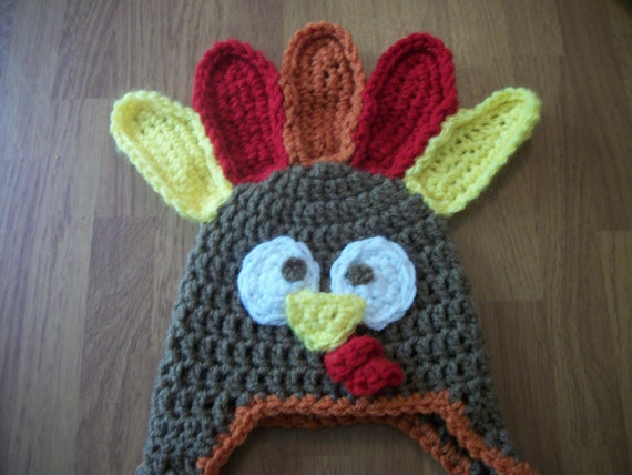 0-3 MonthTurkey Hat - Photo Prop - Thanksgiving