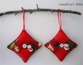 Handmade Snowman Patchwork Christmas Ornaments from Josephine's Abbey