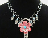 On Sale Flower and Leaves Necklace