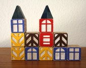 Danish Village House Building Blocks, Set of 15 - 1SweetDreamVintage